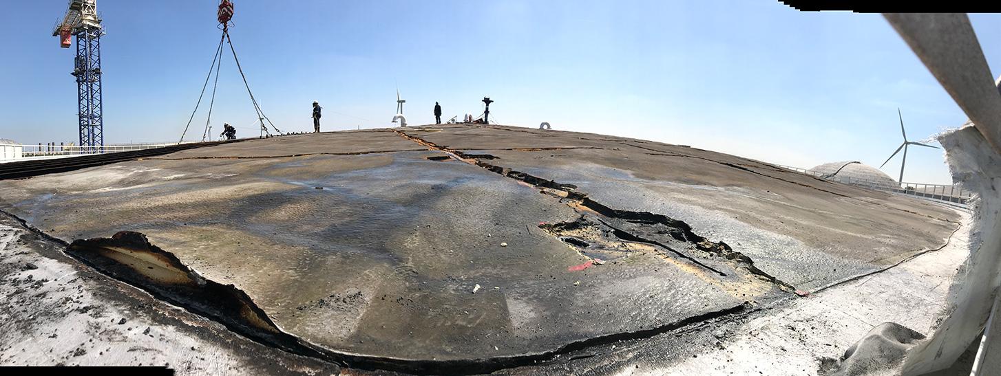 HOFFLAND BV - RDAM - Europoort - slopen vast dak opslagtank