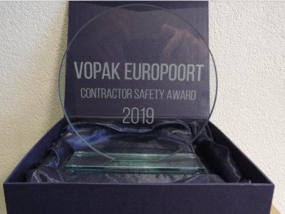 Vopak Europoort contractor safety award 2019 Hoffland BV