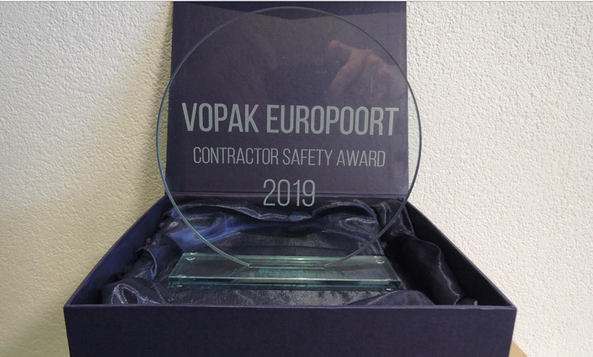 Vopak Europoort contractor safety award 2019 Hoffland BV